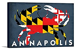 Maryland Flag Crab - Annapolis, Maryland (18x12 Gallery Wrapped Stretched Canvas)