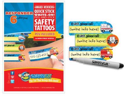 Quick Stick Write-on! Child ID Tattoos (Responder) - 1