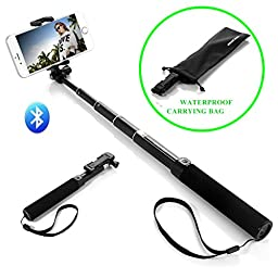 Selfie Stick, Eleckey Selfie Stick Self-portrait Monopod Bluetooth Selfie Stick with Built-In Bluetooth Remote Shutter and Universal Adjustable Holder for iPhone 6 Plus/6/5S/5/4, Android and Gopro(Mini One EK01)