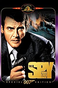 "James Bond, played by Roger Moore, battles Jaws in the James Bond film ""The Spy Who Loved Me."""