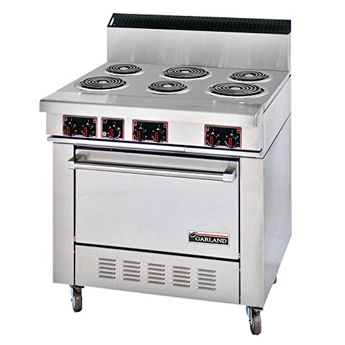 Garland Us Range Ss686 Range Electric 36 Wide 6 Burners High Performance Sealed Elements With Standard Oven Sentry Series