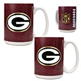 NFL Green Bay Packers Primary Logo Gameball Coffee Mug Set (2-Piece) at Amazon.com