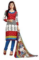 Parinaaz fashion Multi Chudidar Silk Dress Material