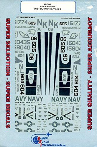 Super Scale Decals 1:48 EA-6B Prowlers VAQ-134,VAQ-139,VMAQ-2 Decal Set #48-308