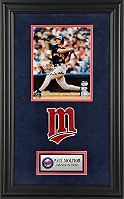 """Paul Molitor Minnesota Twins Deluxe Framed Autographed 8"""" x 10"""" Hitting Photograph - Fanatics Authentic Certified"""