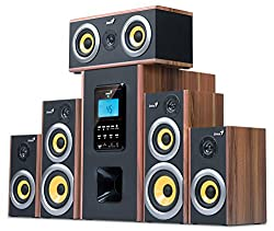 Genius Six-Piece Wooden Home Theater Speaker with MP3 Decoder (SW-HF5.1 5200)