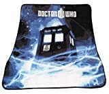 "Doctor Who The Tardis Gallifrey Fleece Throw Blanket Afghan, 50""x60"""