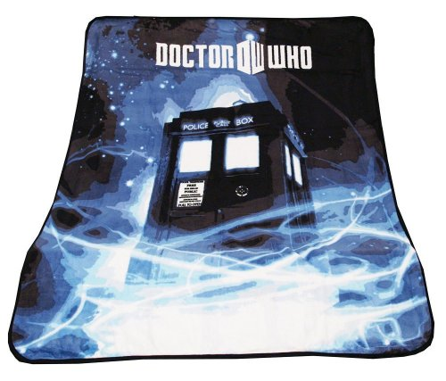 Cheapest Prices! Doctor Who Throw Blanket - TARDIS Gallifrey Fleece - 50 x 60 Afghan