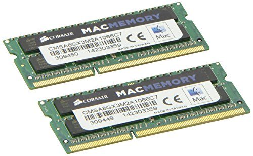 Corsair Apple 8 GB Dual Channel Kit DDR3 1066 (PC3 8500) 204-Pin DDR3 Laptop SO-DIMM Memory CMSA8GX3M2A1066C7