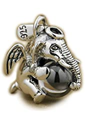 925 Sterling Silver Lovely Dumbo White Cz Stone Fashion Pendant 9s007 Jp