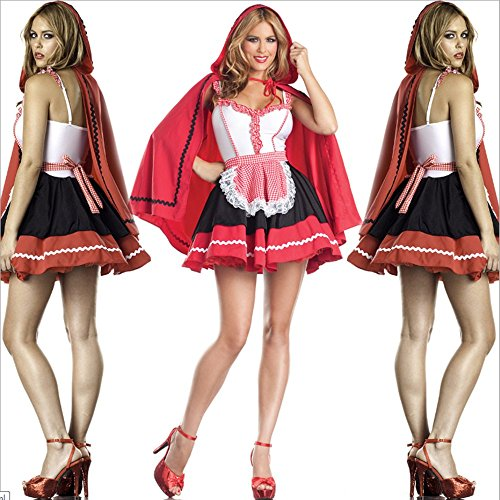 Halloween Ball Show Sexy Lingerie Little Red Riding Costume Skirt
