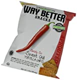 Way Better Snacks Tortilla Chips, Simply So Sweet Chili, 1.25 Ounce (Pack of 24)