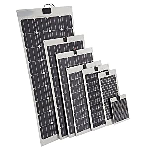 Biard 40W Solarpanel Photovoltaik Solarmodul - Monokristalline Solarzellen - Ideal zum Aufladen von 12V Batterien in Wohnmobilen - Optimal für Unebene Oberflächen - Inkl.1 m Kabel und SEA Anschlüssen from Biard