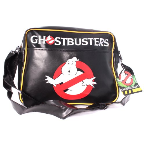 Officially Licensed Ghostbusters Classic Logo Messenger Bag (Black). Top quality, will fit A4 folders.