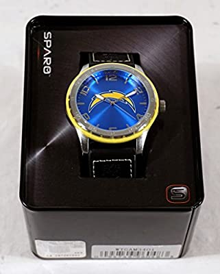 San Diego Chargers NFL Licensed Logo Sparo Gambit Color Bezel Wrist Watch