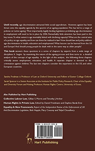 Age as an Equality Issue: Legal and Policy Perspectives