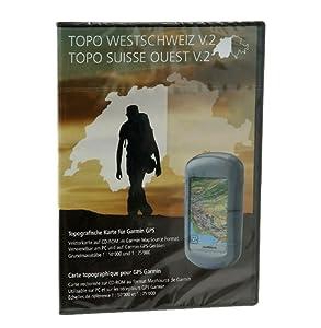 Garmin Schweiz V2 West - Freizeit- und Wanderkarte für GPS Geräte auf CD