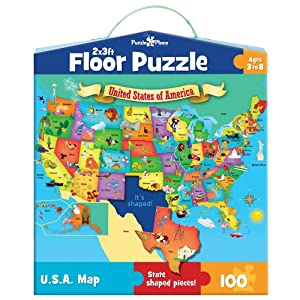 Masterpieces puzzle place usa floor map puzzle for 100 piece floor puzzles
