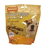Nylabone Enhanced Rawhide Roll Puppy Treats, Bacon, 25 Count