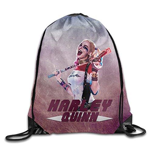 Bro-Custom Harley Quinn Men Backpack Storage Size Size Key White.
