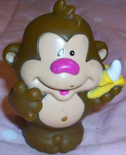 Fisher Price Little People Monkey with Banana Replacement Figure Doll Toy - 1