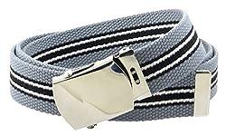 Canvas Web Belt Nickel Buckle/Tip Colorful Patterns 50