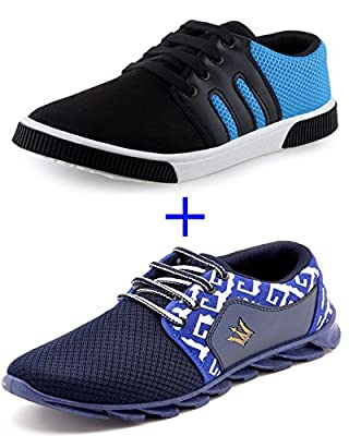 SCATCHITE Combo Pack of 2 Affordable Footwear (Running Sports Shoes+Casual Shoe)
