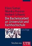 Die Bachelorarbeit an Universität und Fachhochschule