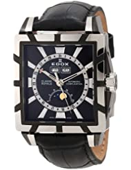 Edox Men's 90003 357N NIN Classe Royale Rectangular Moonphase Automatic Watch