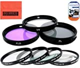 Big Mike'S 58Mm Multi-Coated 7 Piece Filter Set Includes 3 Pc Filter Kit (Uv-Cpl-Fld-) And 4 Pc Close Up Filter Set (+1+2+4+10) For Nikon 55-300Mm F/4.5-5.6G Ed Vr Af-S Dx Nikkor Zoom Lens + More!!