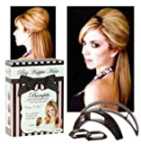 New Big Happie Hair - Hair Volumizing Inserts Bumpits - Black 5 Pieces Set & Instructions Included