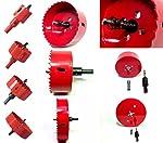 選べる ホールソー 22サイズ(50mm~155mm) インパクトドライバー 電動ドリル ボール盤 対応 木工 塩ビ プラスチック アクリル 発泡スチロール 用 穴あけ 道具 器具 (125mm)