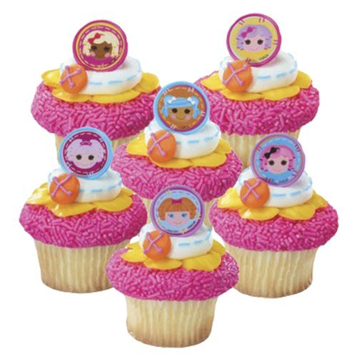 24 Lalaloopsy Cupcake Party Favor Rings - 1