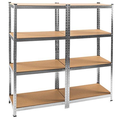 TecTake-Werkstattregal-mit-8-Ablagen-640kg-Gesamttraglast-Steckregal-Lagerregal-Werkbank-Garage-160x160x40cm
