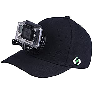 Smatree Baseball Hat for GoPro - SmaHat H1 with Quick Release Replacement for Gopro Head Strap for Go Pro Hero 4, Session, 3+, 3, 2, 1