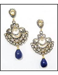 E-designs Rhodium / Gold Plated Earring With CZ Stone Alongwith Colour Stones Studded For Women - B00HSI6FIS