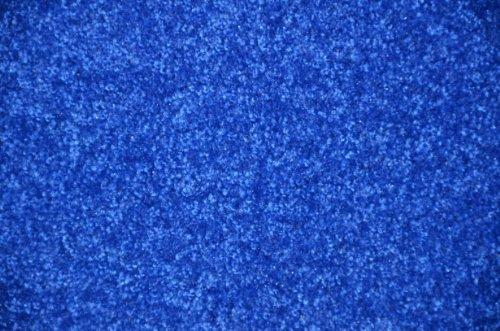 Electric Blue Plush 6' x 8' Bound Carpet Area Rug