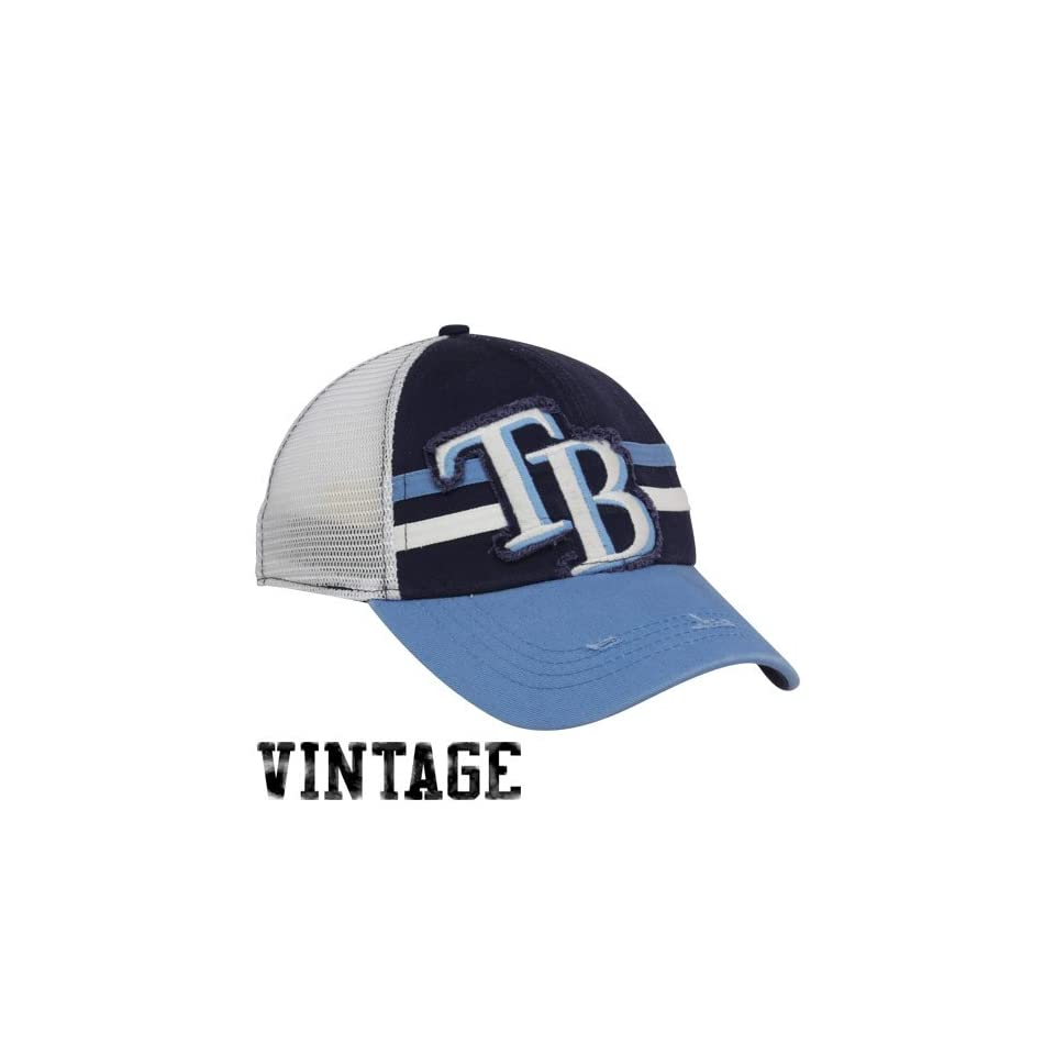 release date 63fc7 2de1c New Era Tampa Bay Rays Navy Blue Light Blue Deuce Vintage
