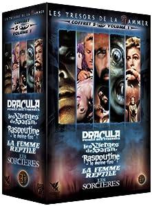 Coffret Hammer N°1 - 5 DVD : Dracula, prince des ténèbres / Les sorcières de Cyril Frankel / La femme reptile / Raspoutine le moine fou / Les vierges de Satan