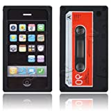 Cassette Retro Tape Cover for iPhone 3G 3GS Gel Silicone Stylish Case Skin Black from gadget Zoo