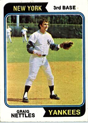 1974 Topps #251 Greg Nettles New York Yankees Baseball Card In A Protective Screwdown Case