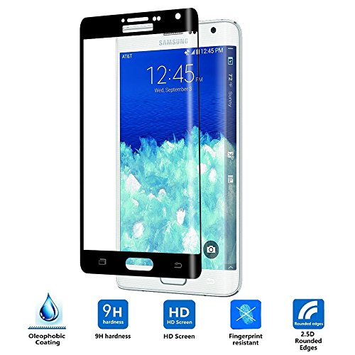 Vistore Clear Ballistic Glass Screen Protector for Samsung Galaxy Note Edge - Black (Note Edge Tempered Glass compare prices)