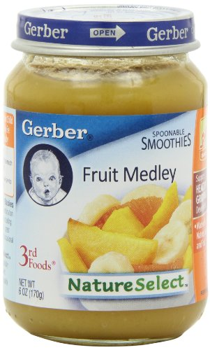 Gerber 3Rd Foods, Fruit Medley, 6-Ounce Jars (Pack Of 12) front-255308