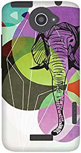 The Racoon Grip From Another World hard plastic printed back case / cover for HTC One X