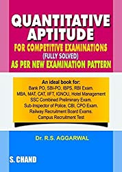 R.S. Aggarwal Quantitative Aptitude for Competitive Examinations Paperback 2016 with Free Car Anti Slip Mat