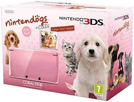 Nintendo 3DS Hw Rosa, Nintendogs+Cats Golden Retriever