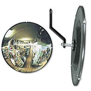 Round Glass Convex Mirror 26 Quot Adjustable Brackets Wall Mounted Mirrors