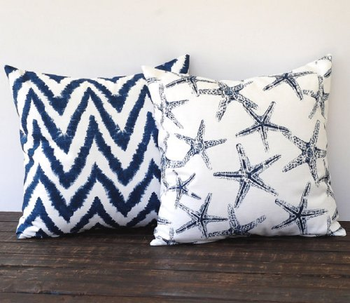 Throw Pillow Covers 18 X 18 Inches Pair Of Two Cushion Covers