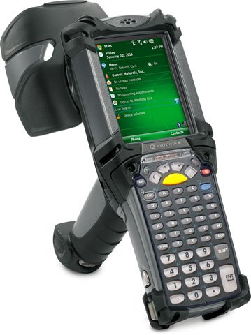 Motorola Mc9090 Rfid Reader - P/N: Mc9090-Gu0Hjeqz1Us / Uhf Rfid / Wi-Fi (802.11A/B/G) / 1D Laser Scanner / Windows Mobile 6.1 / 64Mb Ram/128Mb Rom / 53 Key / Bluetooth.