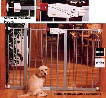 """Regalo Extension for Safety Gate, White, 12"""""""
